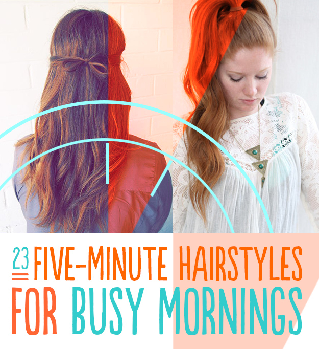 23 five minute hairstyles for busy mornings solutioingenieria Choice Image